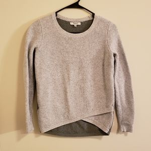 Madewell Grey and Green Sweater